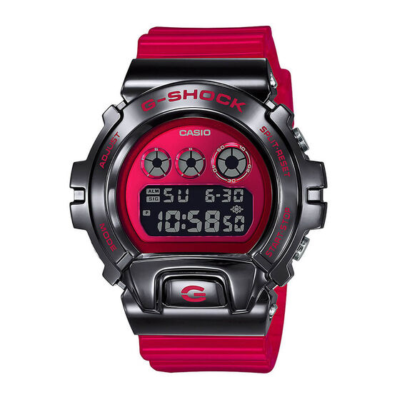 G-Shock 25th Anniversary Transparent Red Watch, 53.9mm
