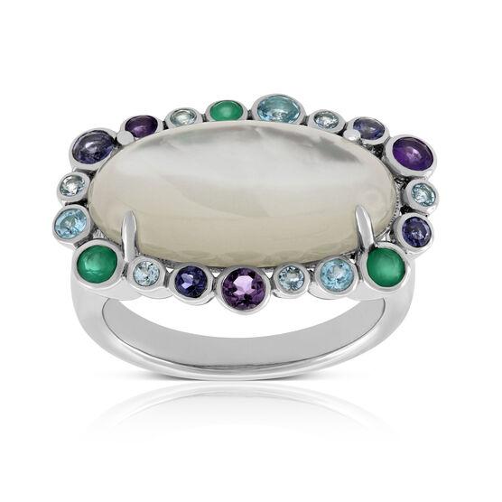 Lisa Bridge Oval Gemstone Ring