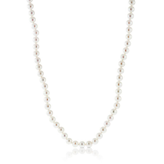 """Akoya Cultured Pearl Necklace 7mm, 14K, 18"""""""