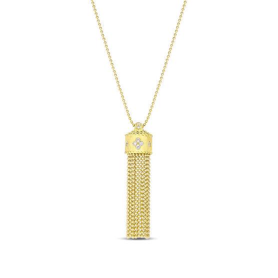 Roberto Coin Princess Beaded Tassel Diamond Necklace 18K