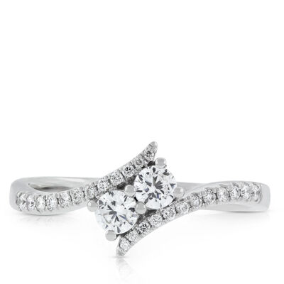 Signature Forevermark + Ever Us™ 2-Stone Diamond Ring 18K