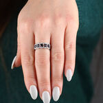 5-Stone Sapphire & Diamond Ring 14K
