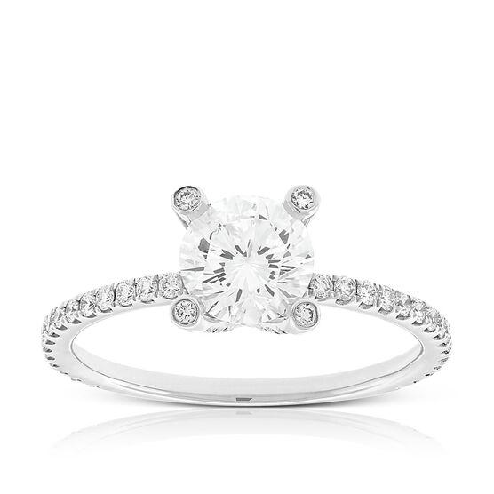 Signature Forevermark Diamond Prong Ring 18K