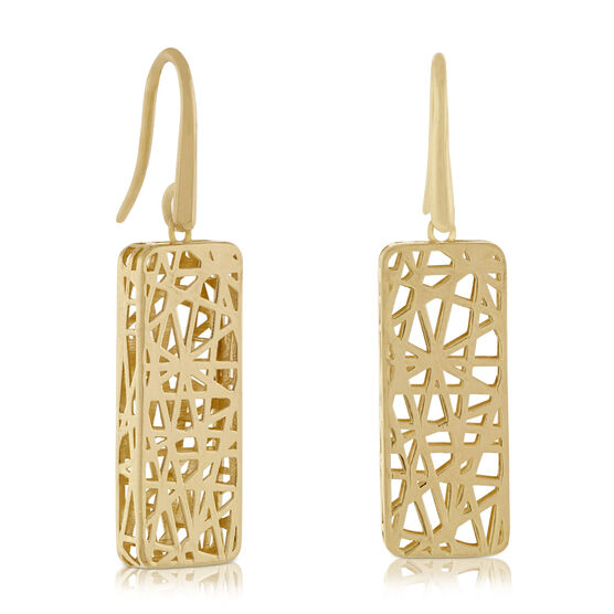 Toscano Rectangle Earrings 14K