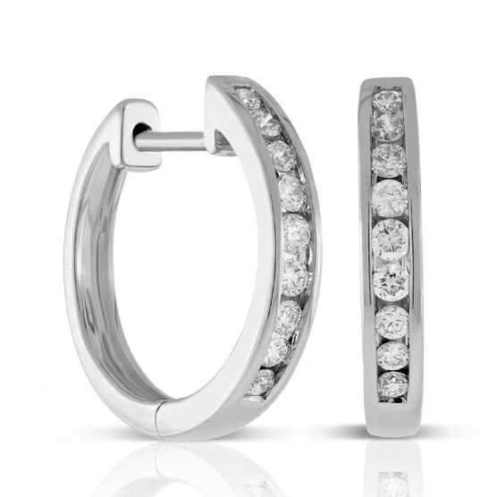 Diamond Hoop Earrings 14K, 1/3 ctw.