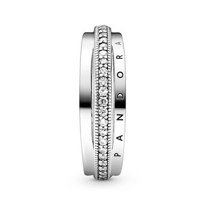 Pandora Triple Band Pavé CZ Ring