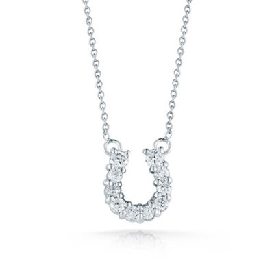 Roberto Coin Diamond Horseshoe Necklace 18K