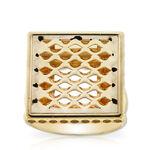 Toscano Pierced Square Ring