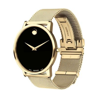 Movado Museum Classic Yellow Ion Watch