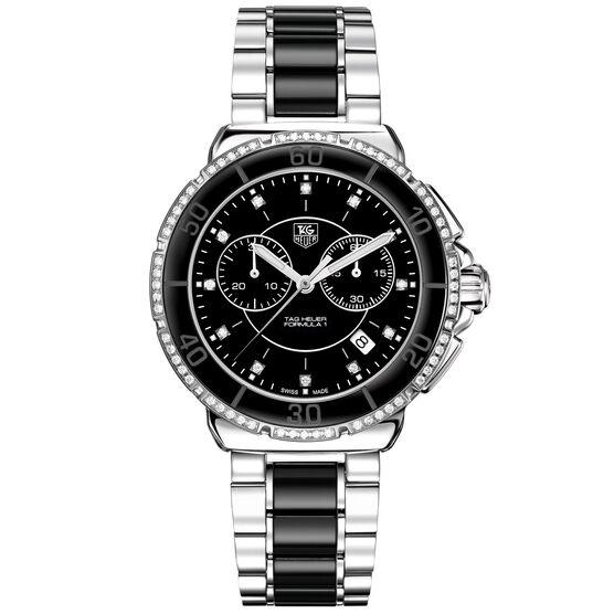TAG Heuer Formula 1 Quartz Black Ceramic & Diamond Chronograph Watch