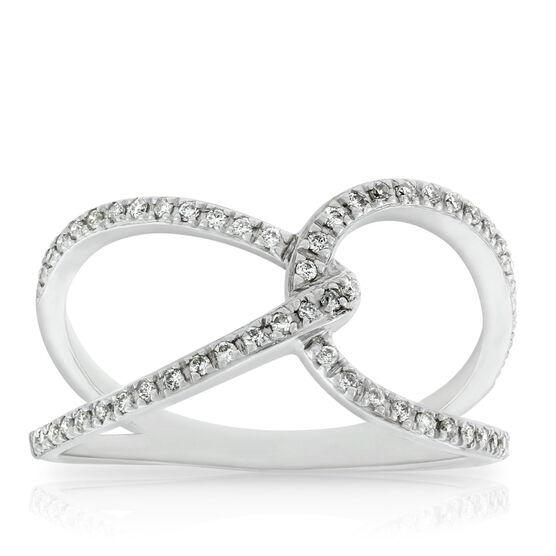 Interlocked Diamond Ring 14K