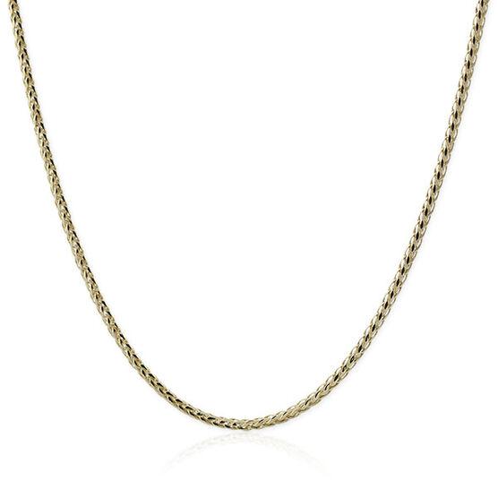 """Diamond Cut Wheat Chain 14K, 18"""""""