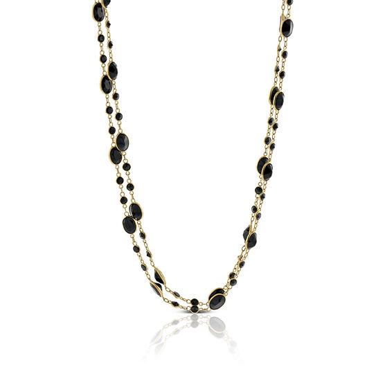 Lisa Bridge Black Spinel Station Necklace 14K