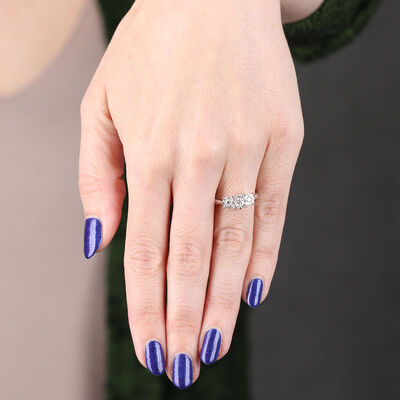 Three Stone Love Eternal Diamond Ring 14K