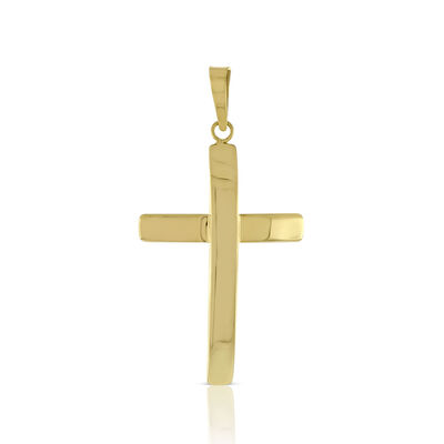 Reversible Cross Pendant 14K