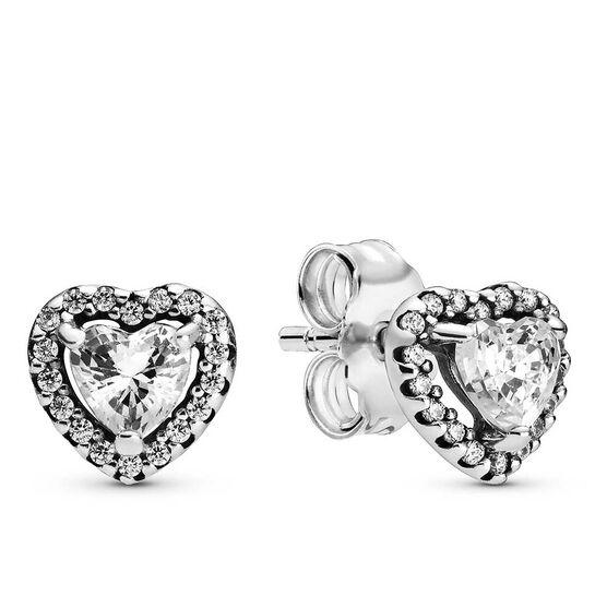 Pandora Elevated Heart CZ Stud Earrings