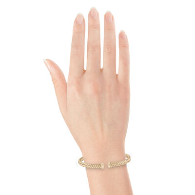Toscano Woven Cuff Bracelet 14K