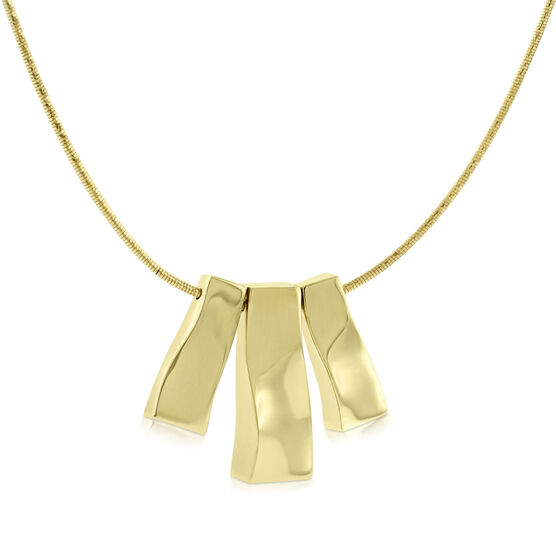 Toscano Bar Necklace 14K