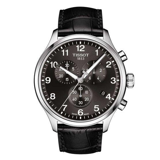 Tissot Chrono XL Classic Black Strap Watch, 45mm