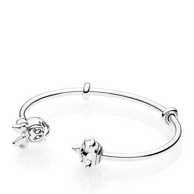 Pandora Disney Mickey Minnie Open Bangle Bracelet