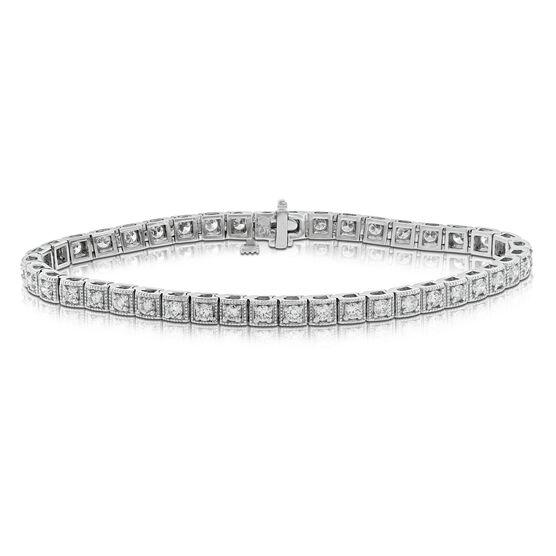 Box Link Diamond Bracelet 14K