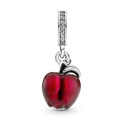 Pandora Murano Glass Red Apple CZ Dangle Charm