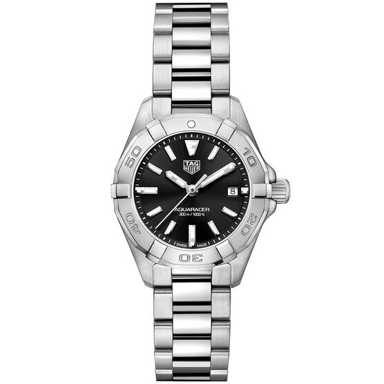 TAG Heuer Aquaracer Quartz Ladies Black Steel Watch
