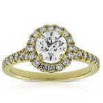 Ikuma Canadian Diamond Halo Engagement Ring 14K