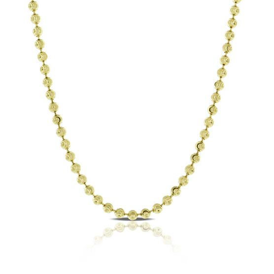 Moon-Cut Bead Necklace 14K, 18""