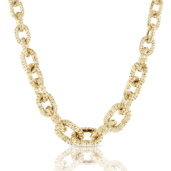 Toscano Openwork Chain Necklace 18K