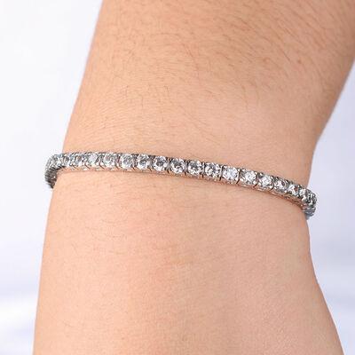 Diamond Line Bracelet 14K, 7 ctw.