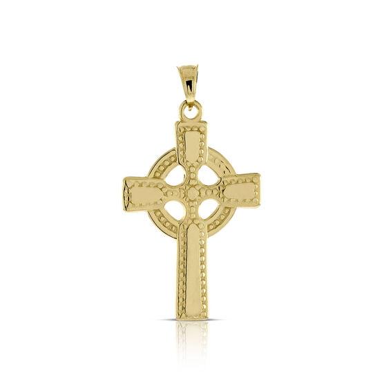Celtic Cross Pendant 14K