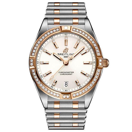 Breitling Chronomat 32 Diamond White Watch, 18K & Steel