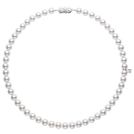 "Mikimoto Akoya Cultured Pearl Strand Necklace A, 16"", 18K"