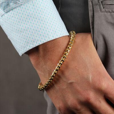 "Toscano Franco Link Bracelet, 10"", 14K"