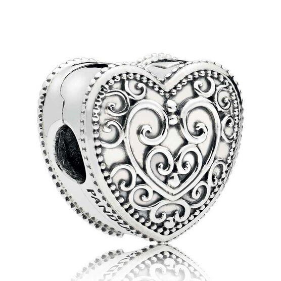 Pandora Enchanted Heart Clip 797024 Ben Bridge Jeweler