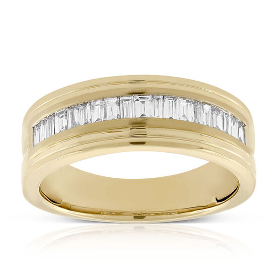 Men's Baguette Cut Diamond Band 14K