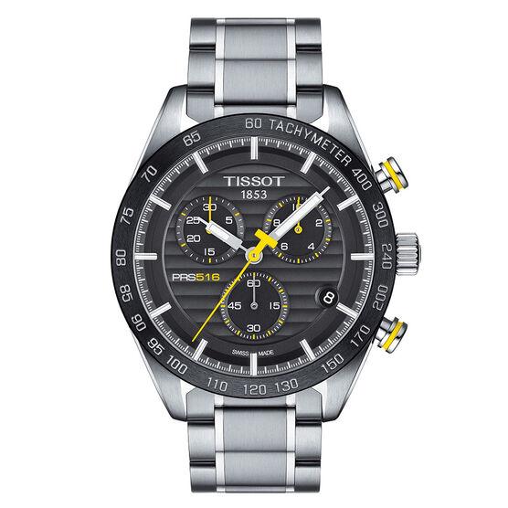 Tissot PRS 516 Chronograph Black Dial Steel Quartz Watch, 42mm