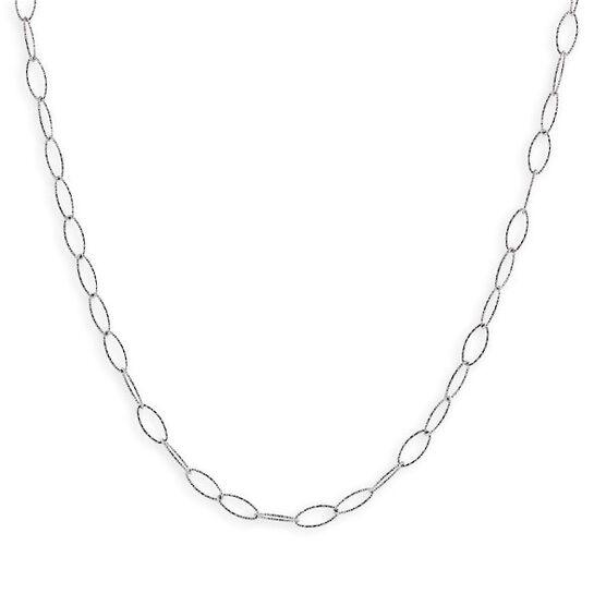 Diamond Cut Oval Link Chain