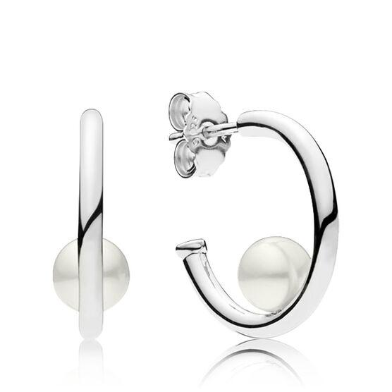 PANDORA Contemporary Freshwater Cultured Pearl Hoop Earrings