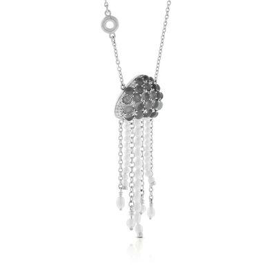 Lisa Bridge Cultured Freshwater Pearls & Gray Moonstone Jellyfish Necklace