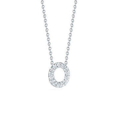 Roberto Coin Tiny Treasures Diamond Initial Pendant 18K Letter 'O'