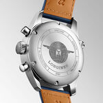 Longines Spirit Automatic Blue Leather Chronometer Watch, 42mm