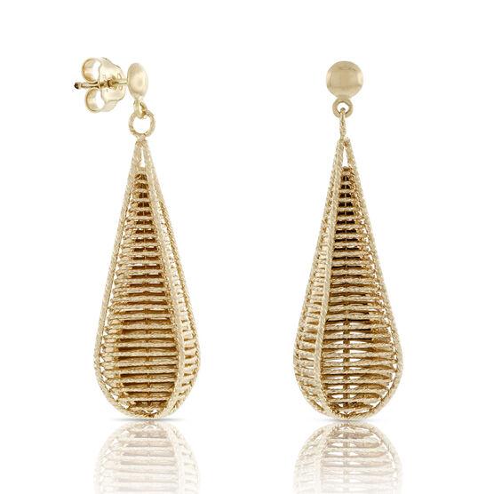 Toscano Webbed Drop Earrings 18K