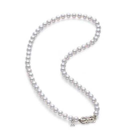 "Mikimoto Akoya Cultured Pearl Strand Necklace A, 16"", 18K"
