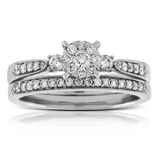 Love Bright Diamond Bridal Set 14K
