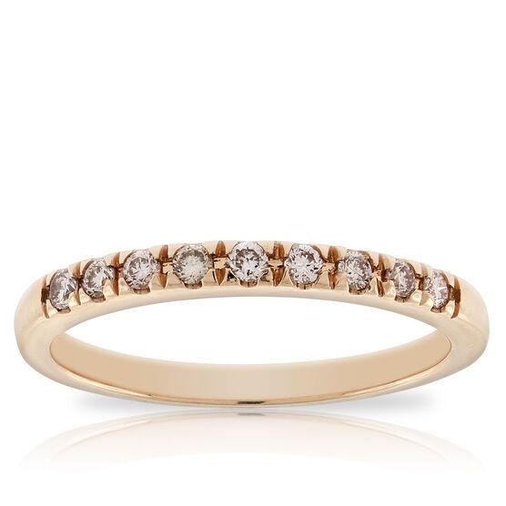 Rose Gold Pink Diamond Band 14K