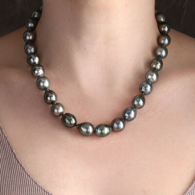 Cultured South Sea Tahitian Pearl Strand 14K, 18""