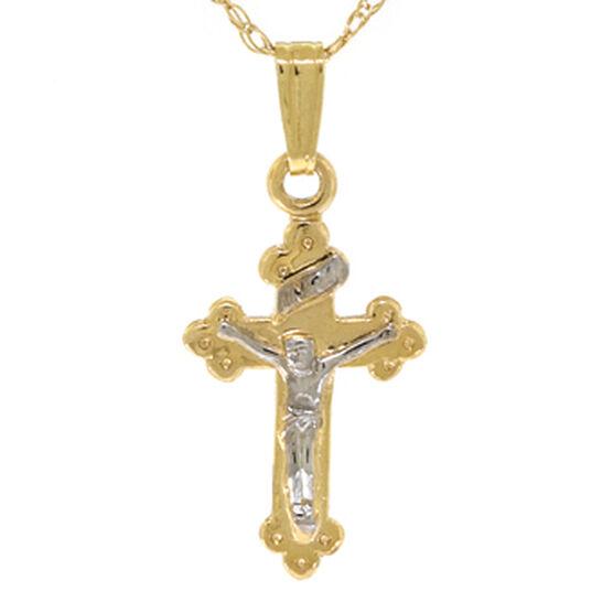 Baby Crucifix Cross Pendant 14K