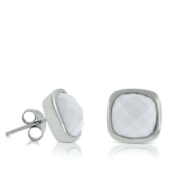 Lisa Bridge White Agate Earrings